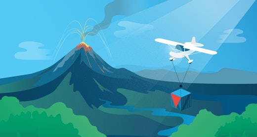 Insurance Policy Management Software Challenges Volcano With Plane 1920x1080